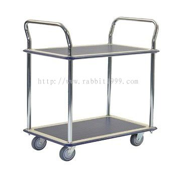 2 SHELF 2 HANDLE TROLLEY - MT-1023  , MT-1024