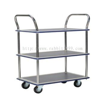 3 SHELF 2 HANDLE TROLLEY - MT-1027 , MT-1028