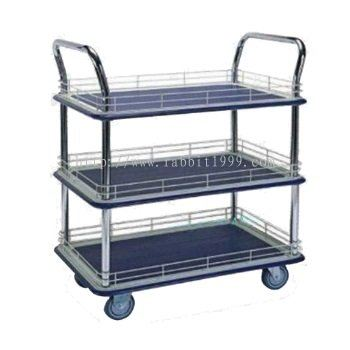 3 SHELF TROLLEY WITH LEDGE - MT-1031 , MT-1032