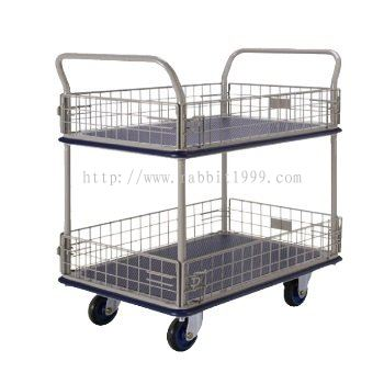 2 SHELF TROLLEY WITH IRON NET - MT-1035 , MT-1036