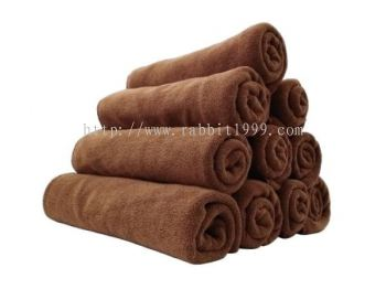 RABBIT CAR WASH CLOTH - brown