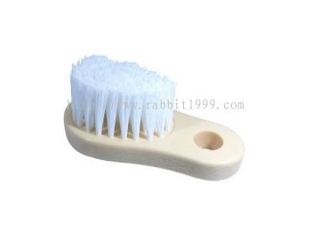 RABBIT LEATHER BRUSH - white