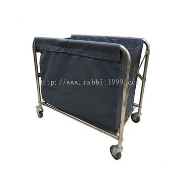 STAINLESS STEEL FOLDABLE LAUNDRY TROLLEY - SFLT-517/SS