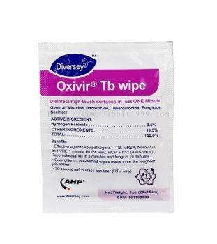 DIVERSEY OXIVIR TB SINGLE WIPES