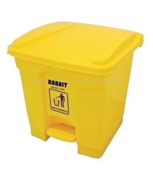 RABBIT STEP ON BIN - 30lt - yellow