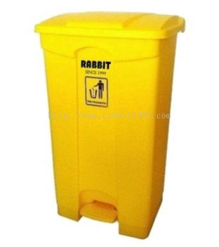 RABBIT STEP ON BIN - 87lt - yellow