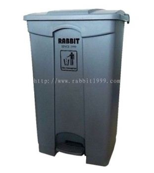 RABBIT STEP ON BIN - 87lt - grey