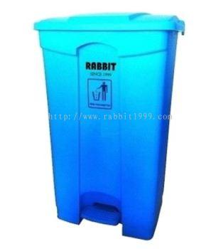 RABBIT STEP ON BIN - 87lt - blue