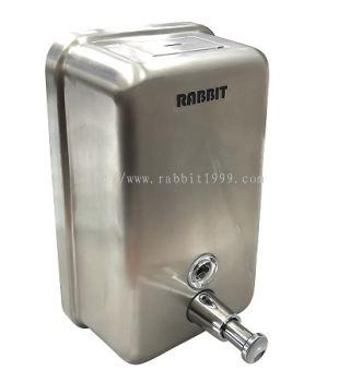 RABBIT STAINLESS STEEL HANDSOAP DISPENSER - vertical - 1200ml