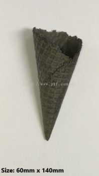Charcoal waffle cone
