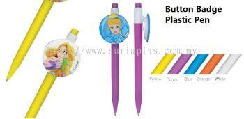 Button Badge Plastic Pen