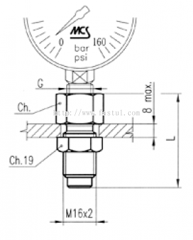 PRESSURE GAUGE CONNECTION
