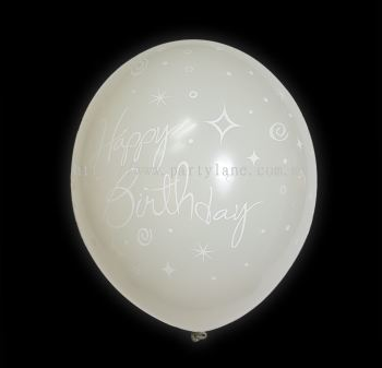 "12""Happy Birthday - White"