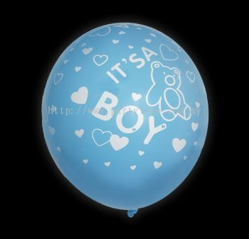 "12""Its A Boy Light Blue"