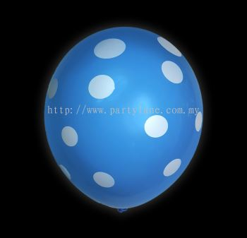 "12""Polka Dot Light Sky Blue"