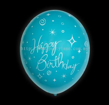 "12""Happy Birthday - Light Sky Blue"