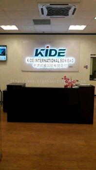 Kide International Sdn Bhd 3D Eg Box Up LED Backlit Signage @ Sunway Subang