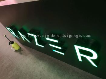3D Box Up Lettering with LED Frontlit