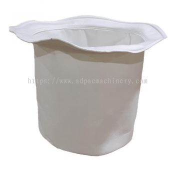 White Polyester Filter Bag with Rope for Dust Collection