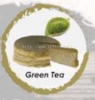 Green Tea Mille Crepe Cake