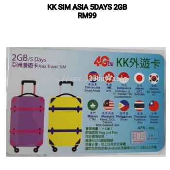 KK SIM ASIA 5Day 2GB