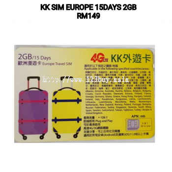 KK Sim Europe 15 Day 2GB