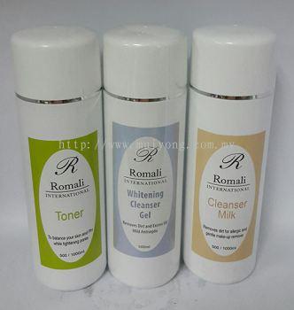 Romali Toner, Cleanser Milk, Cleansing Gel