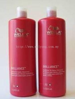 Wella Brillance Shampoo & Conditioner (1000ml)