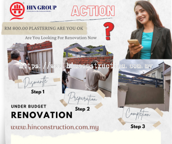 Renovation Contractor For Plastering & Brick Wall. Call Now