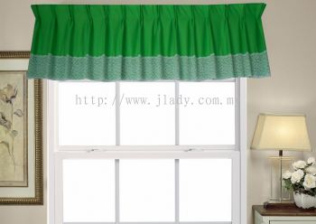 SCALOP INTERLOCK PLAIN + LACE GREEN