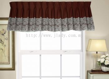 SCALOP INTERLOCK PLAIN + LARGE LACE BROWN