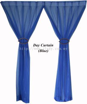"1 SET DAY CURTAIN BLUE (60""X85""/PCS)"