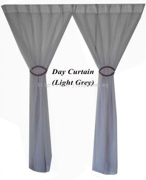 "1 SET DAY CURTAIN LIGHT GREY (60""X85""/PCS)"