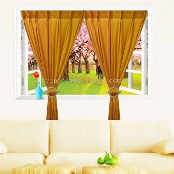 1 Set Curtain INTERLOCK  2LAYER (2 PCS in Pack)