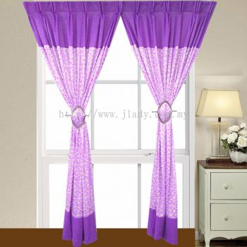 1 SET CURTAIN 3LAYER PLAIN PRINTED (2PCS)