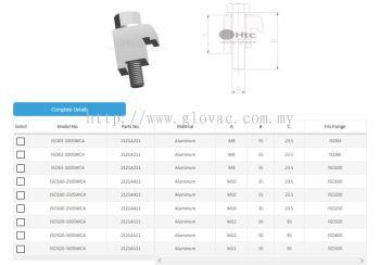 ISO Single Wall Clamp Aluminum