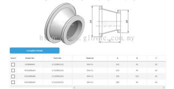 ISO-ISO Conical Reducing Adaptor Fitting
