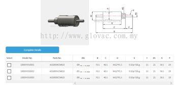 Single Axle(shaft) Non Flange Ferrofluid Feedthrough