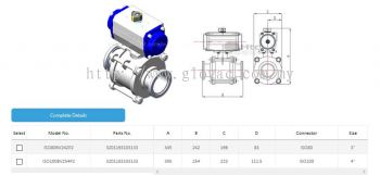 ISO Ball Valve - Double Pneumatic Actuated