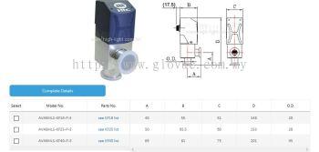 All in one HV aluminum angle valve