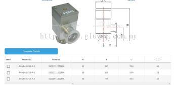 N.C. HV aluminum angle valve