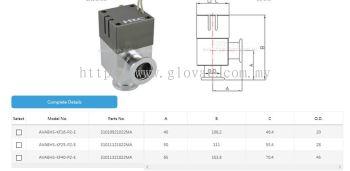 Aluminum angle valve pneumatic double-acting with bellows sensor