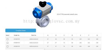 ISO-KF TYPE pneumatic butterfly valve