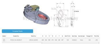 ISO 250 Pendulum valve-Hard anodized