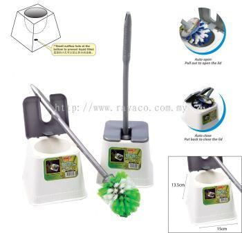 (2000SQ) Premium Toilet Brush With Bowl