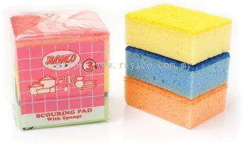 3Pcs Souring Pad With Sponge
