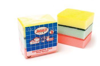 3Pcs Scouring Pad With Sponge