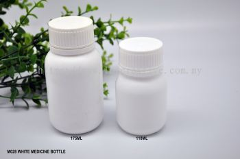 M028 WHITE MEDICINE BOTTLE