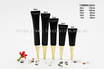 T19MM BLACK SOFT TUBE + GOLD TRUMPET CAP -