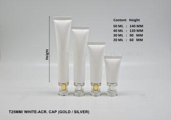 T25 WHITE - ACR. CAP